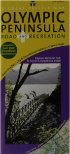 Olympic Peninsula/ Washington Coast, Road & Recreation Map