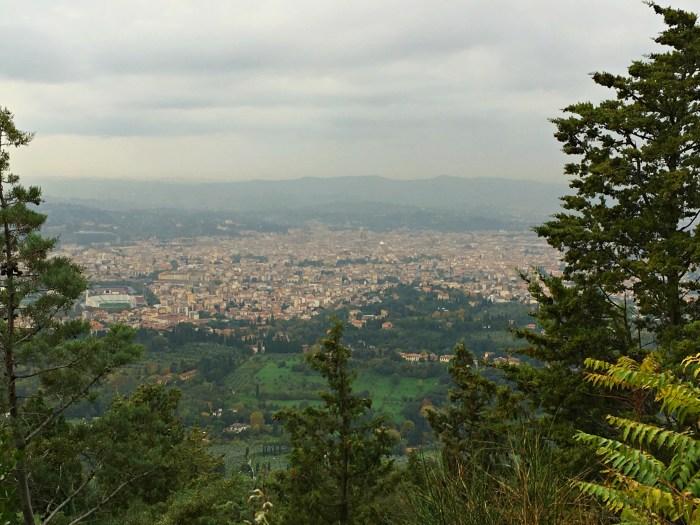 Panoramic view of Firenze Florence from Pietra Serena E Leonardo