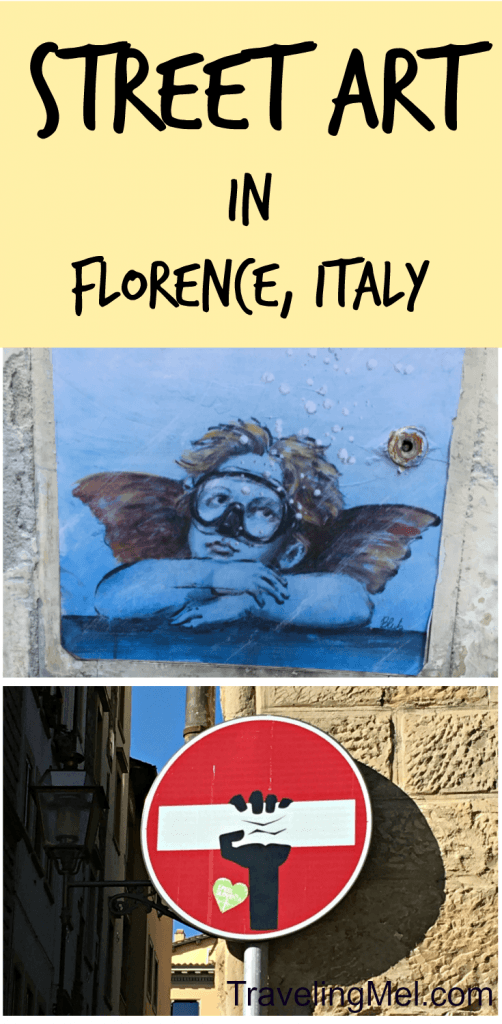 Street art in Florence (Firenze), Italy. Clet and Blub.