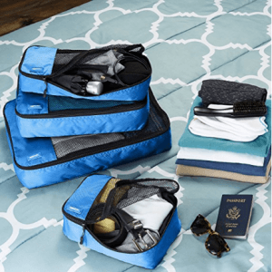 Packing cubes for traveling organization
