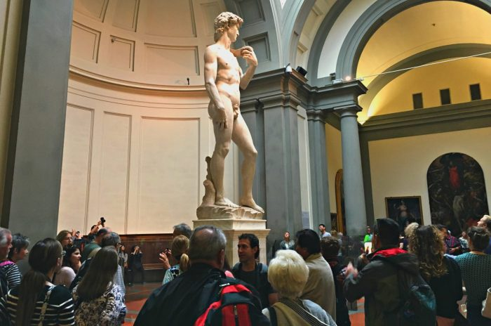 The David is one of the best sculptures in Florence Italy