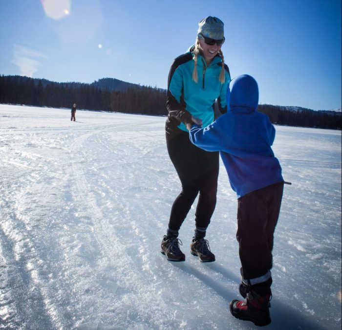 Ice skating on Seelely Lake
