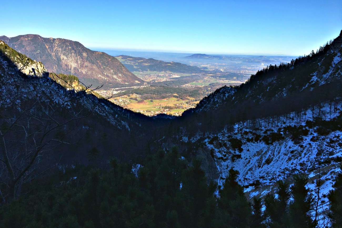 View from Hiking in the Alps: Predigtstuhl near Bad Reichenhall