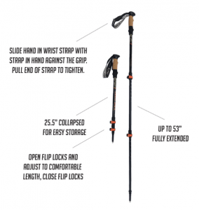 trekking poles make hiking easier