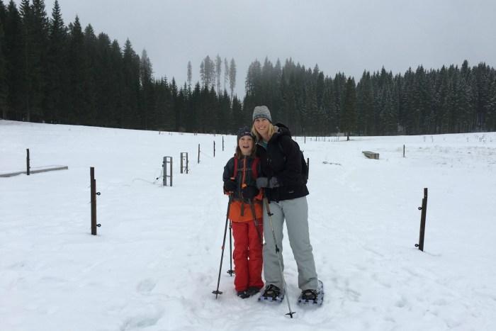 Snow sports, snowshoeing in Bohinj Slovenia