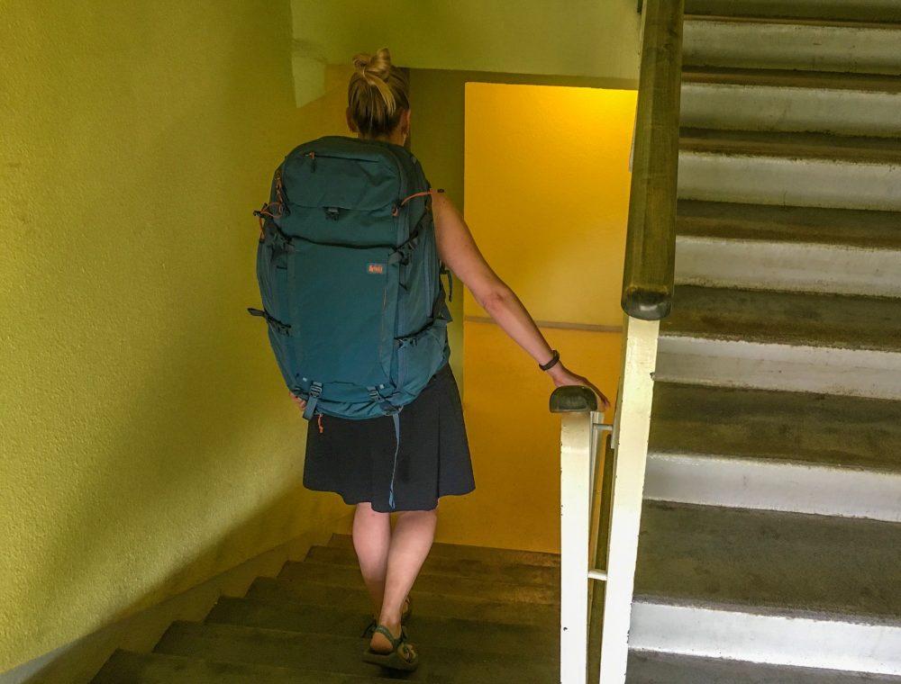 REI Ruckpack travel backpack for women
