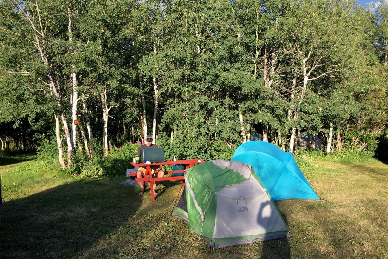 Camping near Glacier National Park at Johnson's of St. Mary