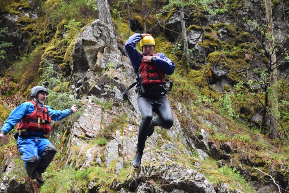 Cliff jumping and rafting in Scotland