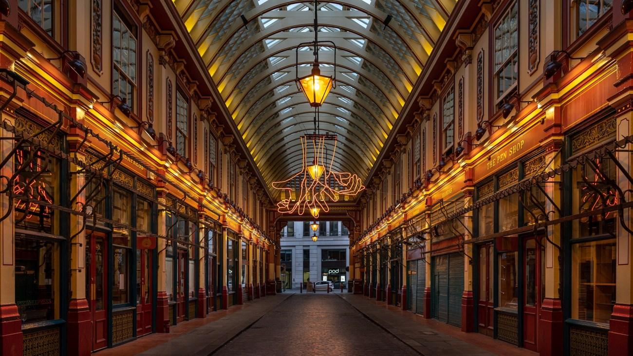 Leadenhall Market in London is the inspiration for Diagon Alley