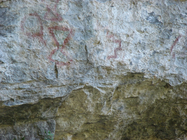 More pictographs up close