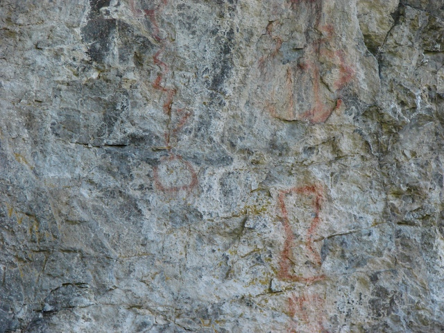 Pictographs up close