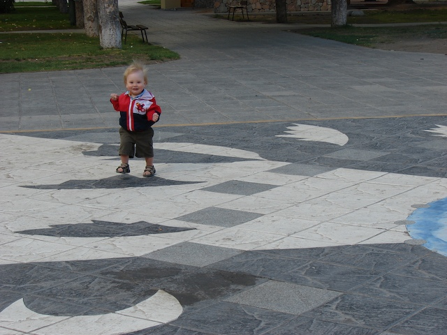 Walking on a sundial
