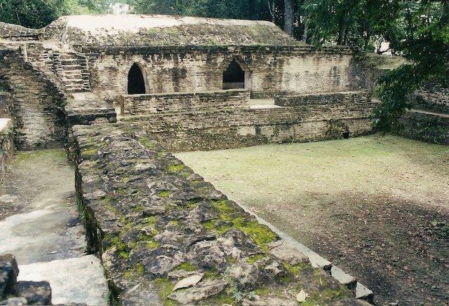 Cahal Pech in Belize mayan ruin near San Ignacio