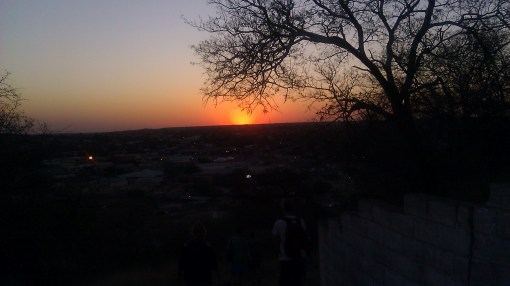 Serowe sunset