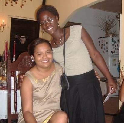 Me with Mrs. Rita the manager of Cornerstone Foundation. She was lovely and fun to work with when I was there. I miss her :(