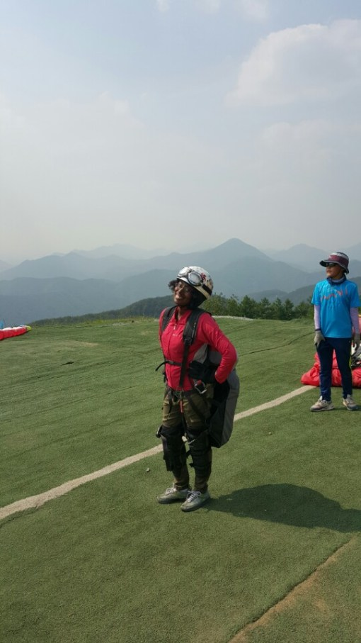 paragliding in south korea
