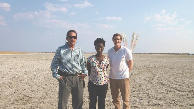 President Khama, Tamara, and U.S. Ambassador to Botswana Earl Miller