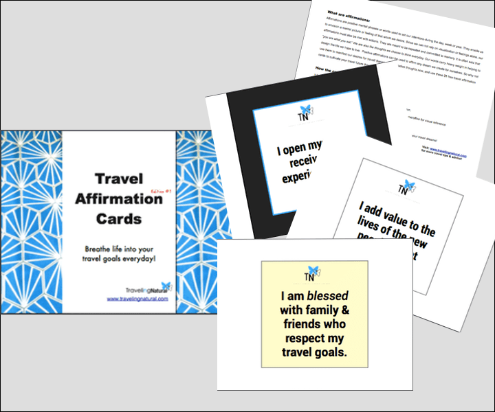 Travel Affirmation Cards