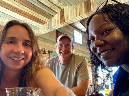 Making friends at Grocery Blues Lounge near Natchez Trace Parkway