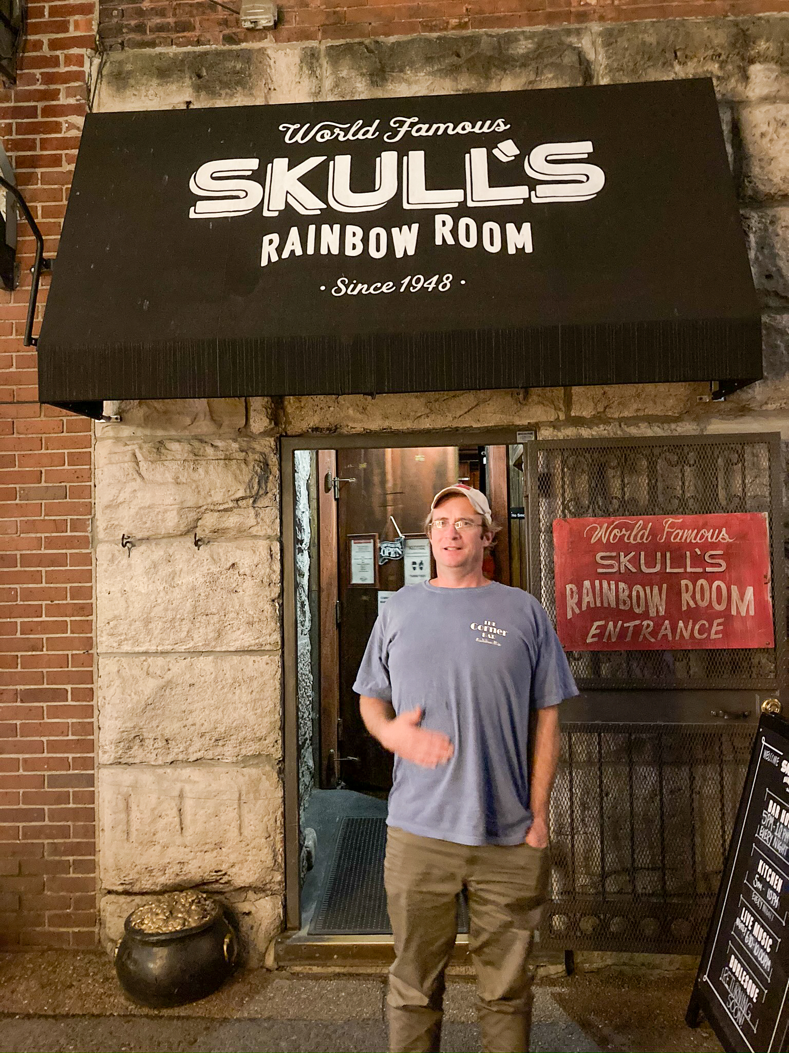Going to Skulls Rainbow Room for dinner is one of the many things to do in Nashville during the Pandemic