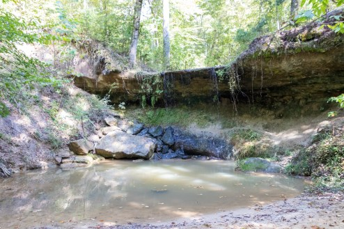 Owens Creek Waterfall along the Natchez Trace Parkway