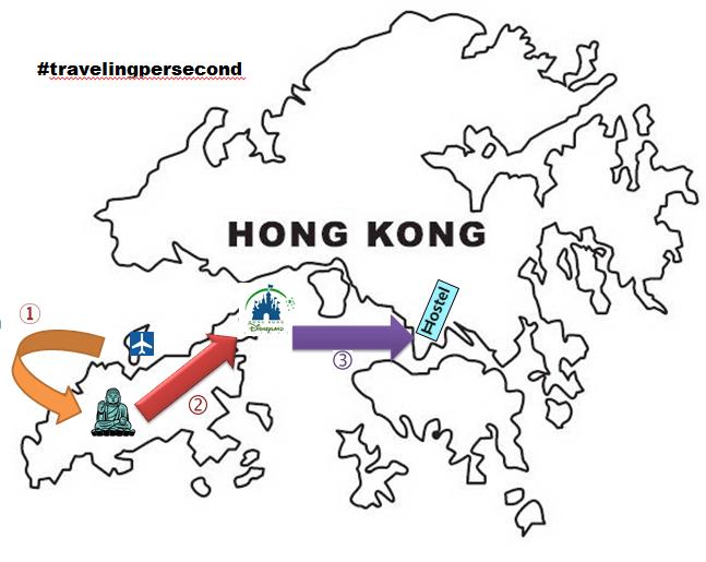 peta jalur hemat hongkong day1