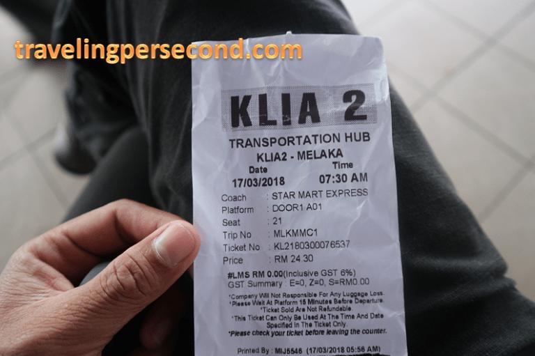 ticket Bus KL Melaka
