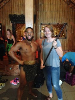One of the Maori performers @ the museum