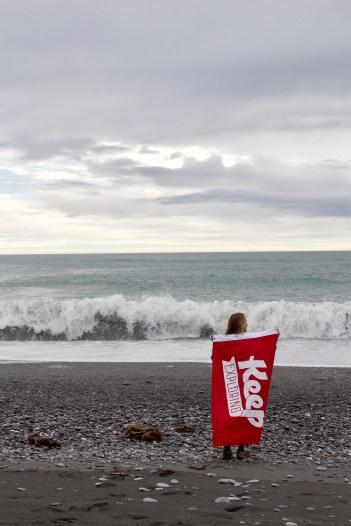 Okarito meets the Tasman Sea