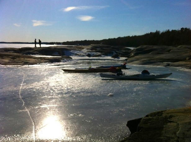 The ice is still frozen solid on the Swedish east coast.