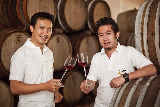 Winemakers at PB Valley, Thailand. Photo: PB Valley