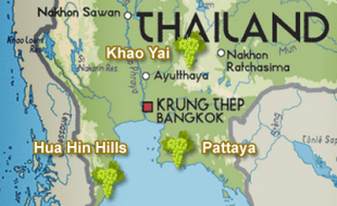 Thailand's wine districts.