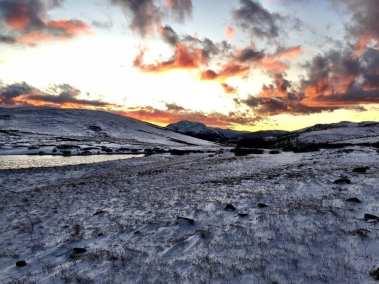 Independence Pass during sunset after a recent snowfall