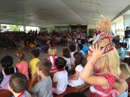 Tessie and the EYC students hosted the Primary School Assembly