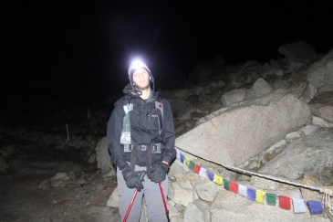 Michael Tired at 5:30 AM During Trek up to Torres