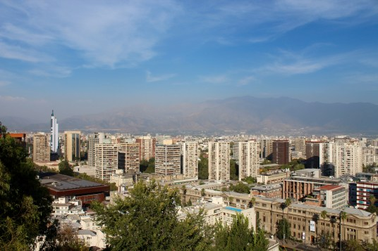 View of Santiago Atop Cerro Santa Lucia