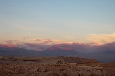 Sunset Across Andes from Moon Valley