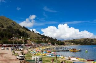Beach Activities on Shore of Lake Titicaca