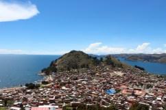 View of Copacabana from Horca del Inca