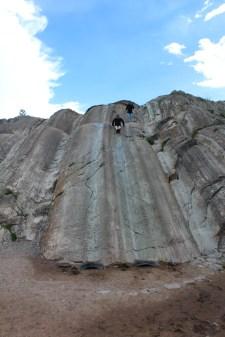 Sliding Down Rock Slide at Saksaywaman