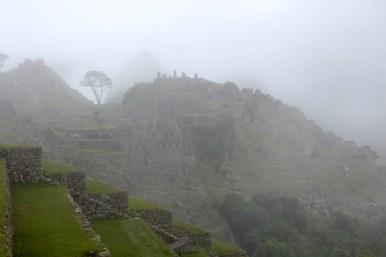 Fog Starting to Clear at Machu Picchu