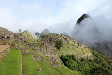 Fog Finally Clearing at Machu Picchu