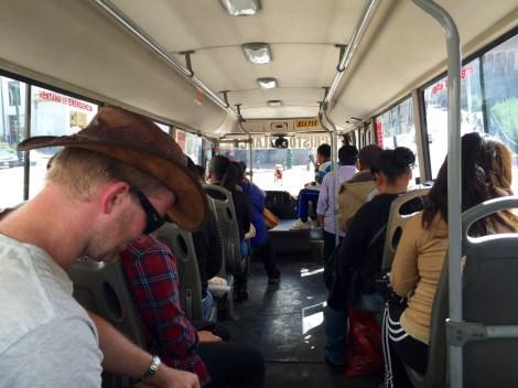 Public Bus Enroute to Incan Ruins