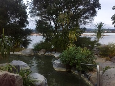 Relaxing at Polynesian Spa