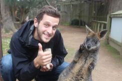 Thumbs Up with a Wallaby