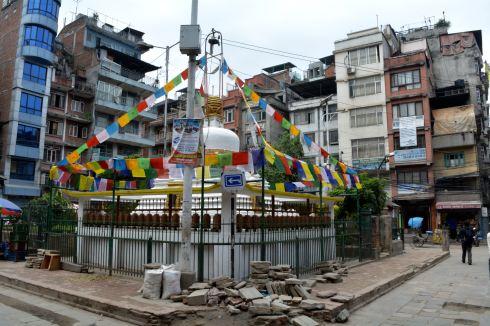 Buddhist Stupa on a Random Side Street