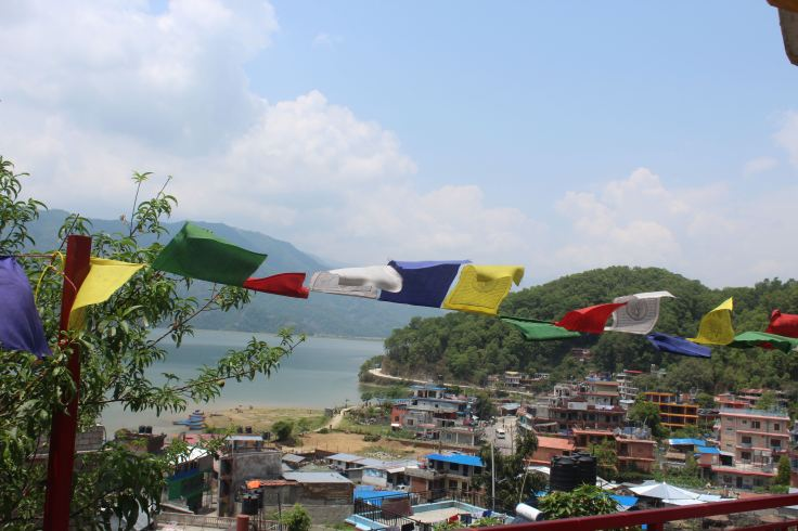 View of Lake Pokhara From Atop the Yoga & Meditation Room at the Buddhism Retreat