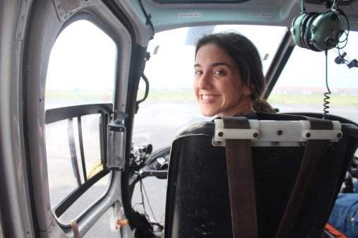 Alie in Co-Pilot's Chair