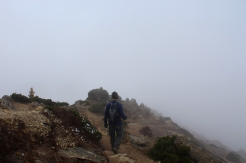 Foggy Memorial Enroute to Gorak Shep (Day 7)