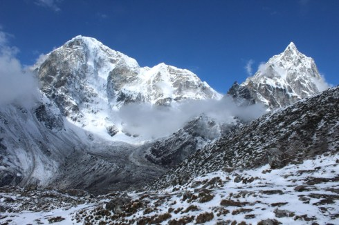 Mountains Post-Snowfall Enroute to Gorak Shep (Day 7)